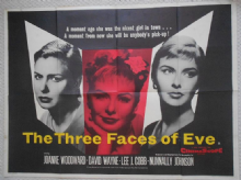 Three Faces of Eve, Original UK Quad Poster, Joanne Woodward, '57